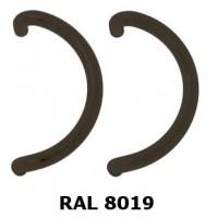 Pochwyt zaokrąglony, dwustronny brązowy RAL8019