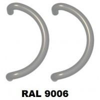 Pochwyt zaokrąglony, dwustronny srebrny RAL9006