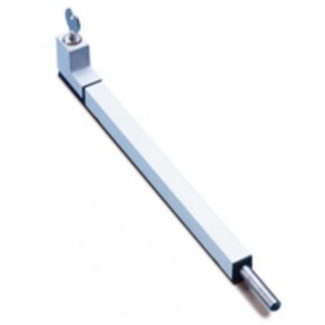 FAPIM ATLAS 3726 Rygiel drzwiowy z kluczykiem L-250mm, biały