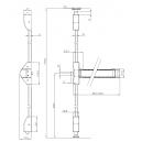 ASSA ABLOY DC120 Samozamykacz + ramię z blokadą EN 2-4, biały