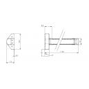 ROMB 041-007 Zamek rolkowy zasuwkowy KC-30 mm, blacha C 6x24 mm