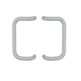Pochwyt prostokątny, dwustronny, rozstaw 300mm, srebrny RAL9006