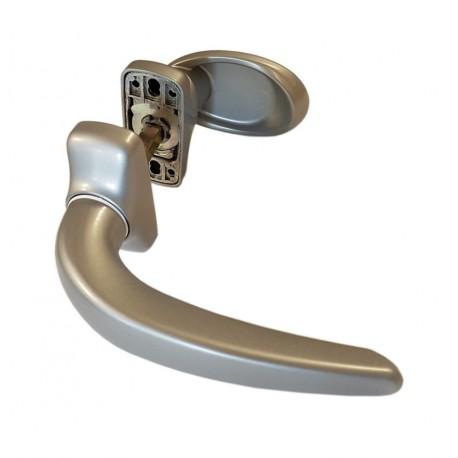 Klamko-klamka FAPIM HORUS do drzwi, srebrny G6