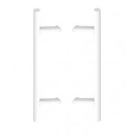 Uchwyt dwustronny PA45 X-800 L-1000 aluminiowy, biały