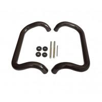 Pochwyt drzwiowy rozstaw 300mm, brązowy (mocowanie na śruby rzymskie)