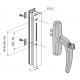 FAPIM 0761B Klamka okienna NEFER z kluczykiem, srebrna
