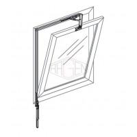 OL90 Otwieracz naświetli, dla okna 380-1200 mm, srebrny