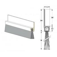 """Uszczelnienie szczotkowe """"H50"""" L-1 m (H-40/60/80/120/150 mm)"""