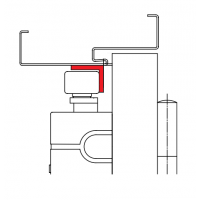 ASSA ABLOY A104 Wspornik kątowy pod szynę G193/G195