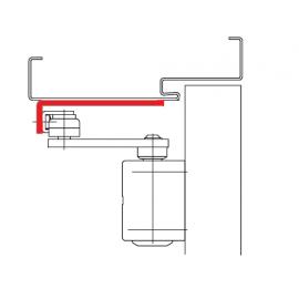 ASSA ABLOY A154 Wspornik ramienia równoległego, srebrny