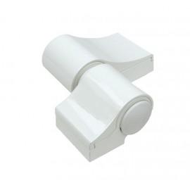 Zawias dwuskrzydłowy LOIRA PLUS 7050VI, R-93 mm, biały