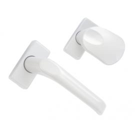 WALA Gałko-klamka H1 krótki szyld, biały RAL9016