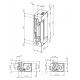 Elektrozaczep z dźwignią odblokowującą, symetryczny 10-24V AC/DC