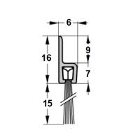 Szczotka uszczelniająca prosta, L-1000mm H-15mm, kpl