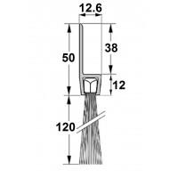 Uszczelka szczotkowa H50-120mm, długość 1m