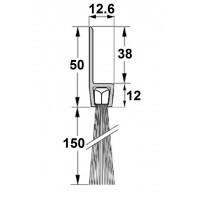 Uszczelka szczotkowa H50-150mm, długość 1m
