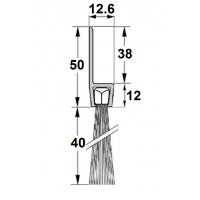 Uszczelka szczotkowa H50-40mm, długość 1m