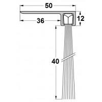 Uszczelka szczotkowa F50-40mm, L-1000 mm