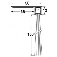 Uszczelka szczotkowa F50-150mm, długość 1m