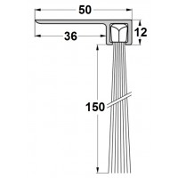 Uszczelka szczotkowa F50-120mm, L-1000 mm