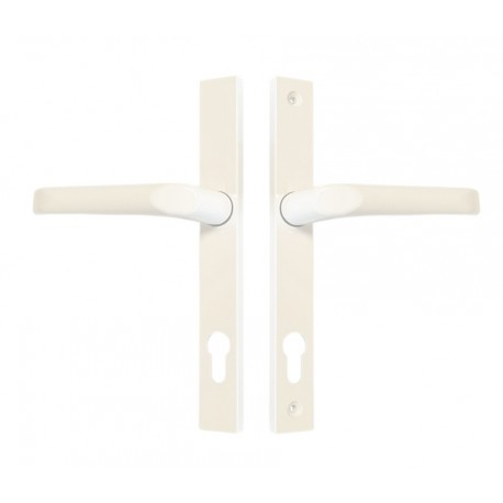 Klamko-klamka WALA H1 długi szyld L-92mm, biały RAL9016
